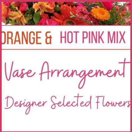 Orange & Hot Pink Mix