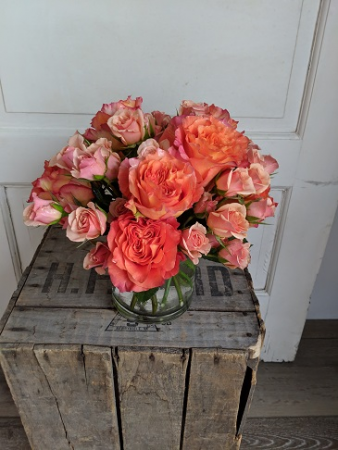 Orange is the New Pink Fresh Arrangement