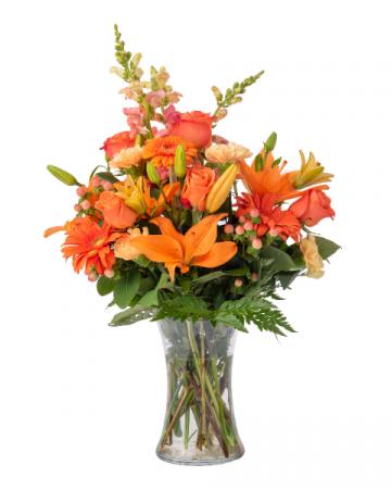 Orange is the New Yellow Vase