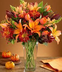 Orange it Fall Vase Arrangement