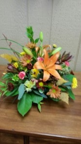 Orange Lily Centerpiece