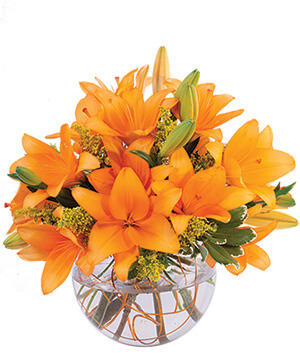 Orange Lily Sorbet Bouquet in Santa Barbara, CA | Lily's Flowers And Fruity Florets