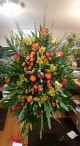 Orange love spray Funeral