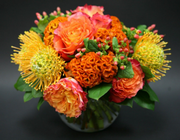 Orange mixed pave arrangement