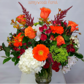 Orange Passion Vase arrangement