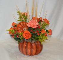 ORANGE PUMPKIN CHARM Flower Arrangement