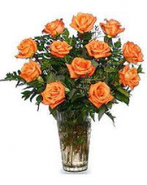 Orange Rose Bouquet 12 STANDARD 18 DELUXE 24 PREMIUM