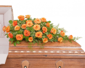 Orange Rose Casket Spray