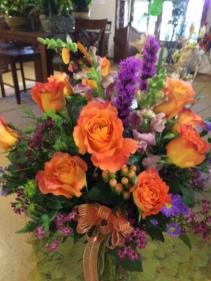 Orange rose splendor Vase