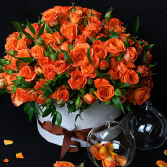 Orange Roses  Keep Sake gift box