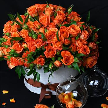 Orange Roses  Keep Sake gift box