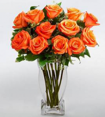 Orange Roses Rose Arrangment