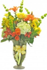 Orange Sherbet Cut Flower arrangement