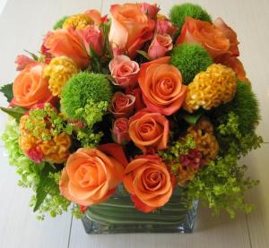 Orange Splash Arrangement in Chappaqua, NY | ART OF FLOWERS
