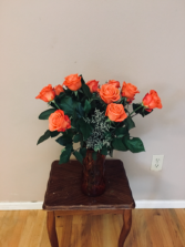 Orange u happy Rose arrangment