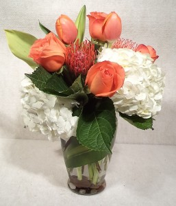 Orange You Glad Fresh Cut Vased Design in Port Huron, MI | CHRISTOPHER'S FLOWERS