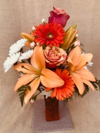 Orange You Pretty  Fresh Vase Arrangement