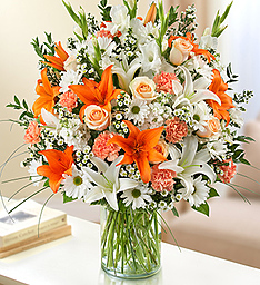 Orange You Speachial Vase in Beech Grove, IN | THE ROSEBUD FLOWERS & GIFTS