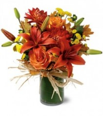 Orange Zest Fall Arrangement
