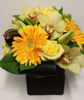 Oranges and lemons  Cube Vase