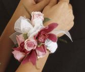 Orchard and Rose  Wrist Corsage
