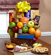 Orchard Fresh Fruit & Snacks Basket