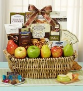 Orchard Gourmet Fruit, Sweets & Savories Basket  FRUIT AND GOURMET MIX