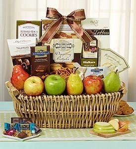 Orchard Gourmet Fruit, Sweets & Savories Basket  FRUIT AND GOURMET MIX