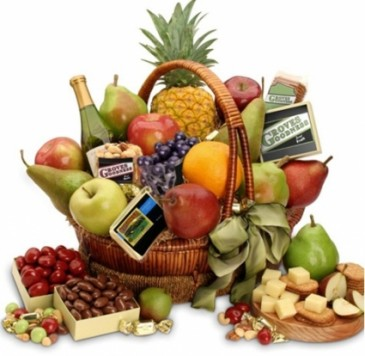 ORCHARD HARVEST FRUIT & GOURMET GIFT BASKET