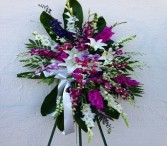 Orchid and Lilies Tropical  Standing Spray