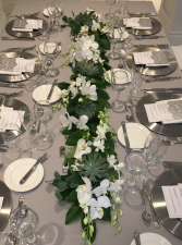 Orchid and Succulent Table Garland