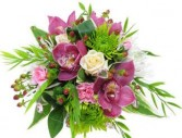 Orchid Bouquet  wrapped flower bouquets