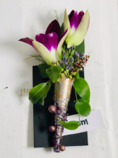 Orchid Bout  Boutonniere