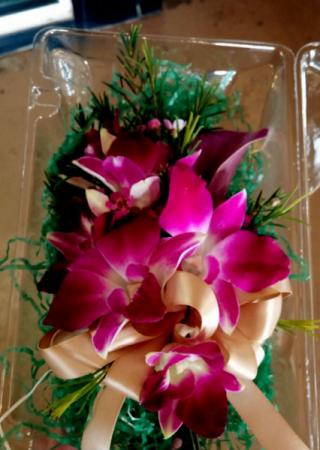 Orchid corsage Wrist