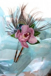 Orchid Hair Comb Prom, Wedding or Night Out Hair Accesories