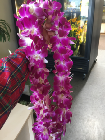 Orchid Lei Purple Dendrobium Orchid