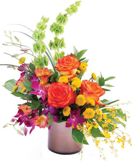 Orchid Rose Paradise Floral Arrangement