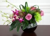 Orchid Swirl Arrangement