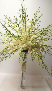 Orchid Trumpet Wedding Centerpiece