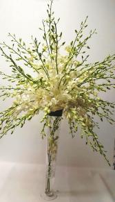 Orchid Trumpet Wedding Centerpiece