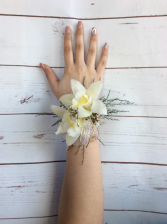 Orchid (White) Wrist Corsage