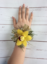 Orchid (Yellow) Wrist Corsage