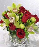 Orchids and Roses Cube Arrangement