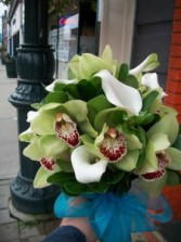 Orchids & Calla's Stunning Wedding Bouquet