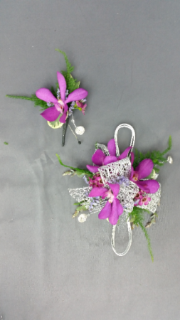 Optimistic Orchids Corsage
