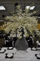 Orchids Galore Reception Decor
