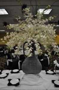 Orchids Galore Reception Decor