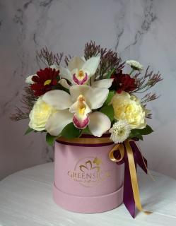 Orchids in Garden Roses White  in Delray Beach, FL | Greensical Flowers Gifts & Decor