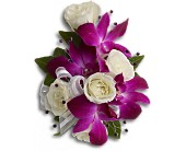 Fuchsia Orchids & Roses Wrist Corsage
