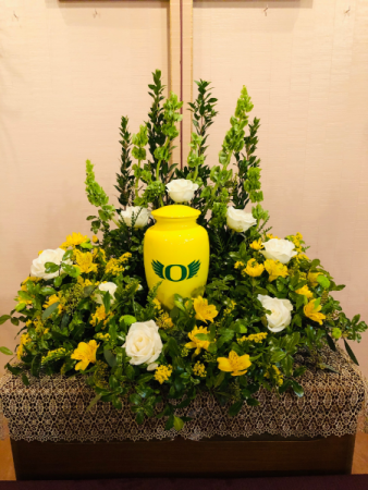 Oregon Duck Urn Urn Arrangement
